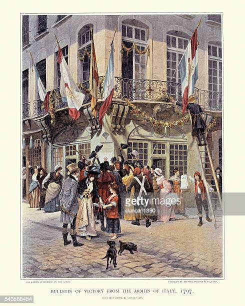 People of Paris celebrating victory of the armies. 1797