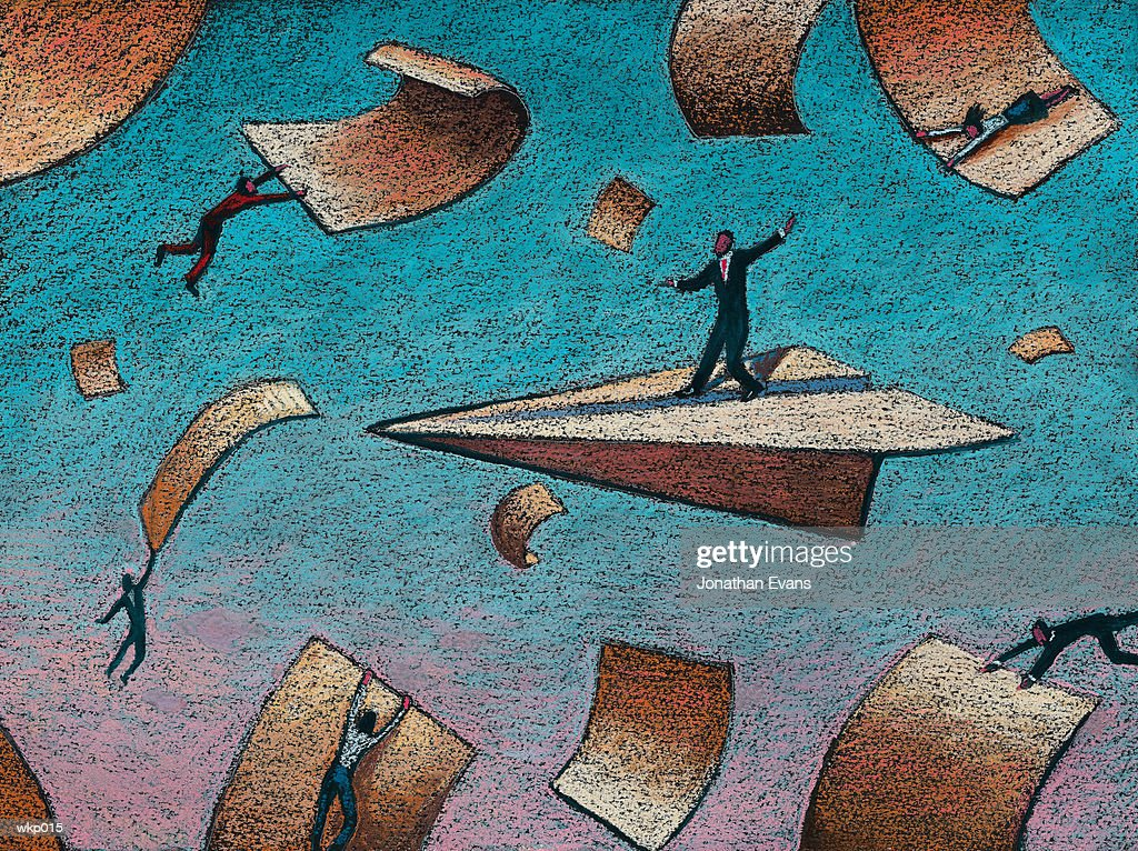 People & Paperwork : Stock Illustration