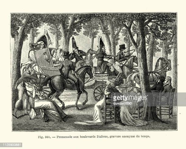 People relaxing on the Boulevard des Italiens, Paris, 18th Century