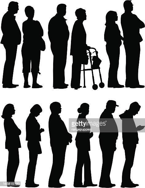 Personas esperando