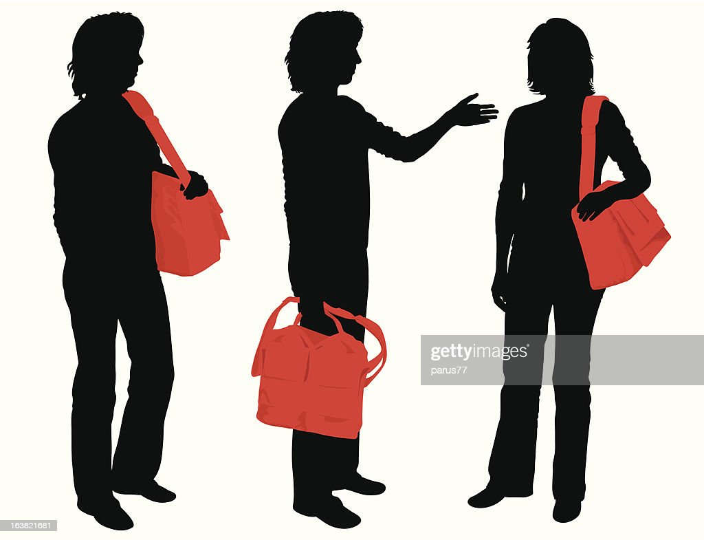 People with bags