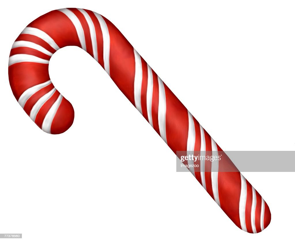 peppermint candy cane : Illustration