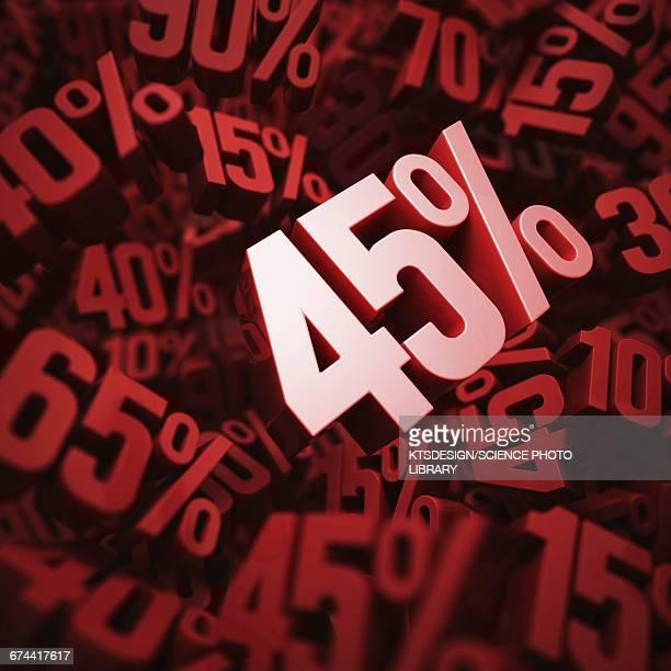 45 per cent discount, illustration
