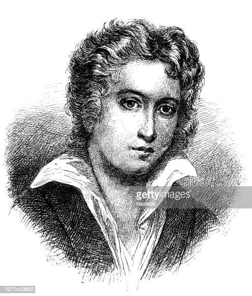 percy bysshe shelley - poet stock illustrations