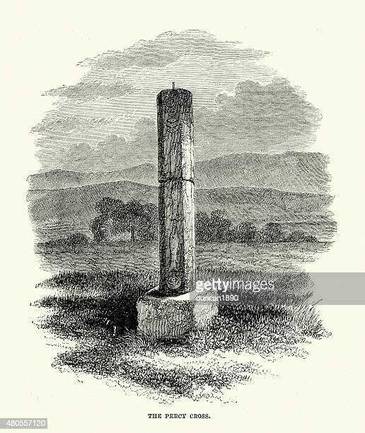 percy cross or battle stone - northeastern england stock illustrations, clip art, cartoons, & icons