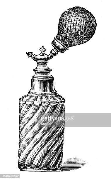 ilustraciones, imágenes clip art, dibujos animados e iconos de stock de botella de perfume - olores agradables