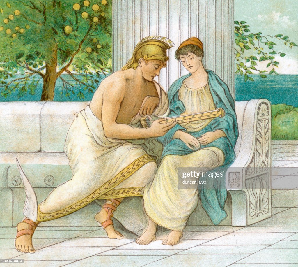 Perseus and Andromeda : stock illustration