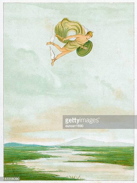 illustrazioni stock, clip art, cartoni animati e icone di tendenza di perseo - mitologia greca