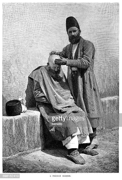 persian barber - iranian culture stock illustrations, clip art, cartoons, & icons