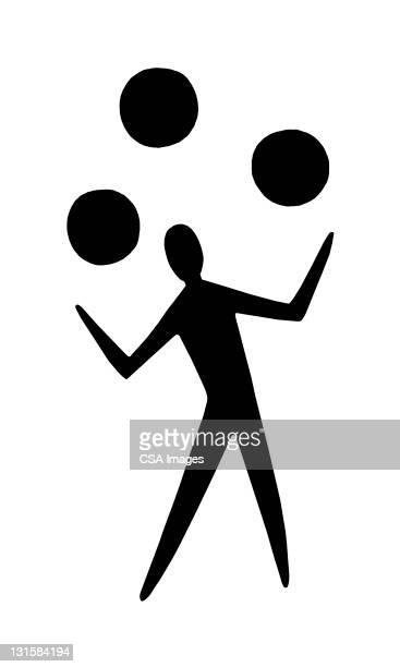 person juggling - juggling stock illustrations, clip art, cartoons, & icons