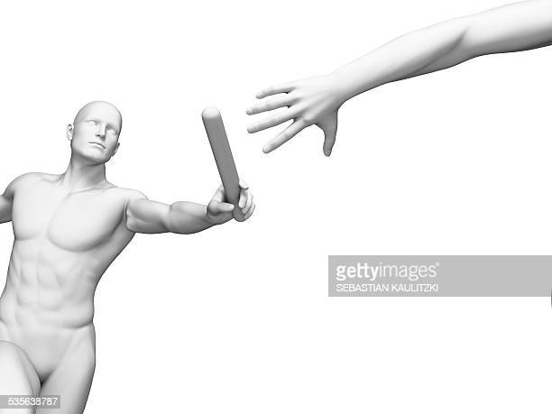 person passing relay baton, artwork - giving stock illustrations