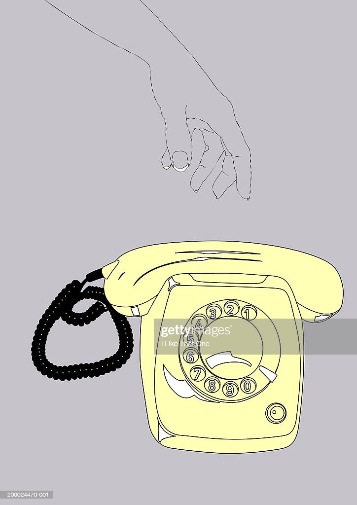 Person Reaching For Telephone Stock Illustration Getty Images