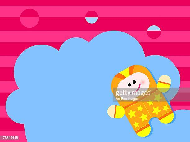 person smiling in front of clouds - number of people stock illustrations, clip art, cartoons, & icons