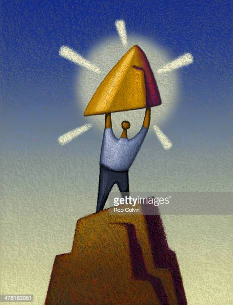 Person standing on Gold Mountain