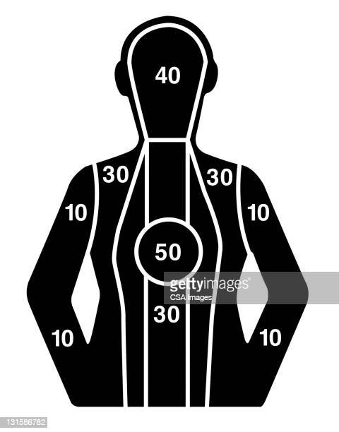 person target - sports target stock illustrations
