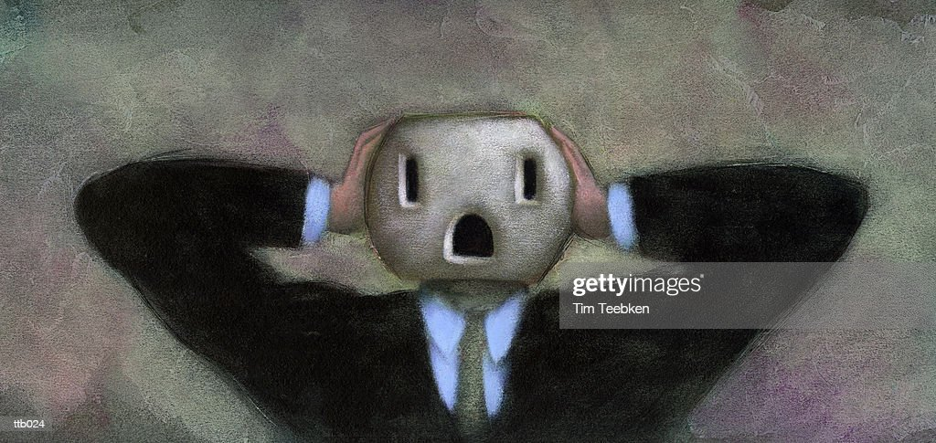 Person with Outlet Head : Stock Illustration
