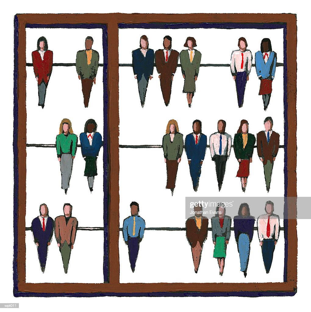 Personnel Abacus : Stock Illustration