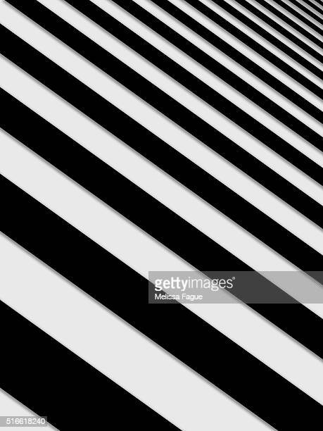 Perspective Solid Lines Black and White Illustration