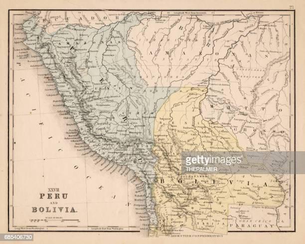 Peru Bolivia map 1867