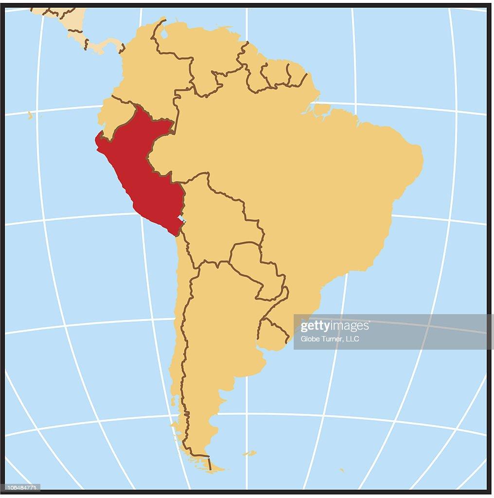 Peru Locator Map Stock-Illustration - Getty Images