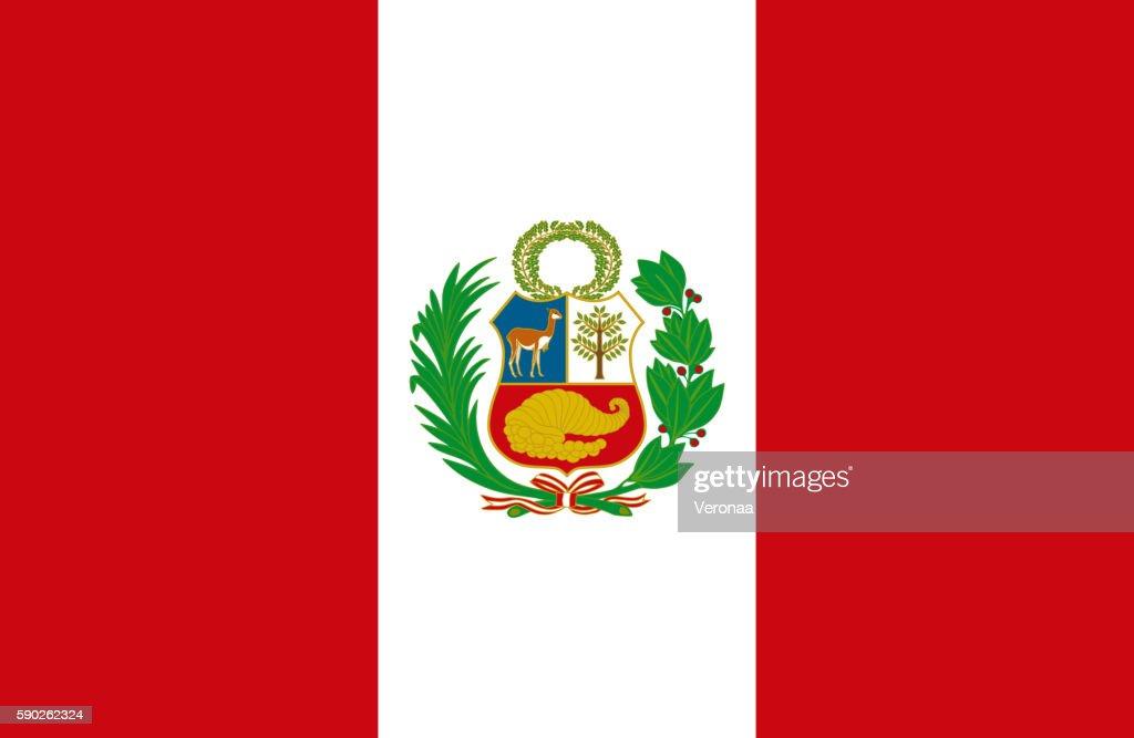 Peruvian flag : stock illustration
