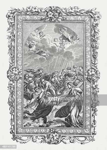 ilustrações de stock, clip art, desenhos animados e ícones de peter andar sobre o mar (1628), publicado em 1878 - st. peter's basilica the vatican