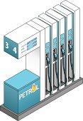 Petrol pumps / bowsers.