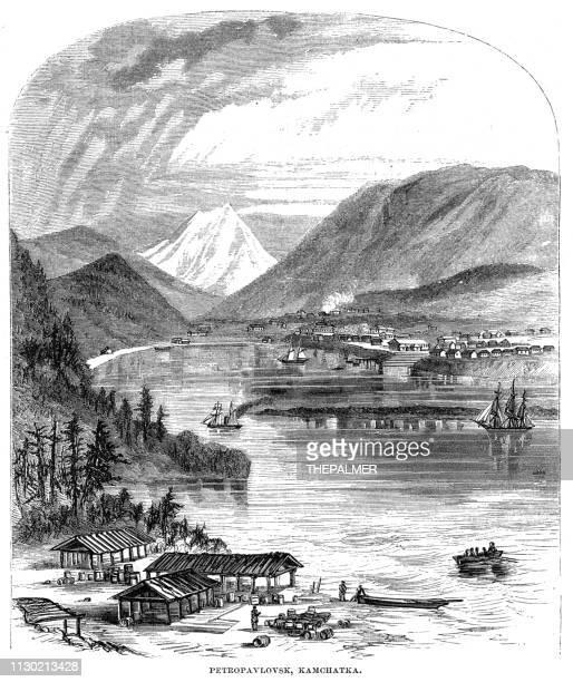 Petropavlovsk, Kamchatka engraving 1868