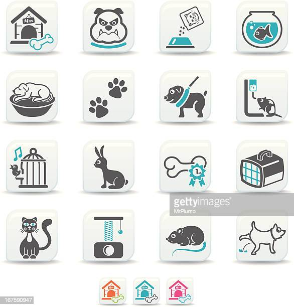 pets icons | simicoso collection - dog toys stock illustrations