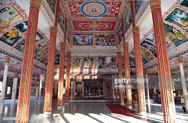 pha that luang tai buddhist temple vientiane laos - large format camera stock illustrations, clip art, cartoons, & icons
