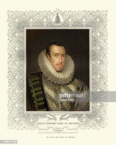 philip howard, 20th earl of arundel, english nobleman and martyr - respect stock illustrations