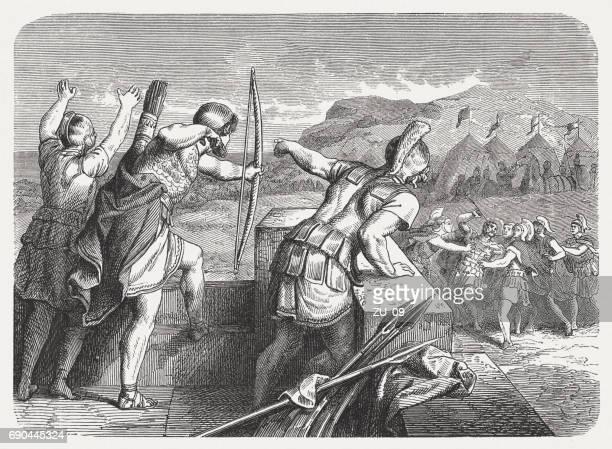 Philip II of Macedon (382-336 BC) loses his right eye