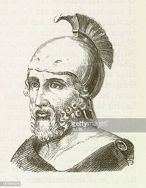 philip ii of macedonia (c.382 bc-336 bc), published in 1882 - fine art portrait stock illustrations, clip art, cartoons, & icons