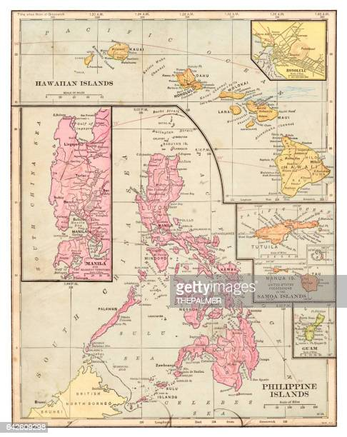 Philippines islands map 1898