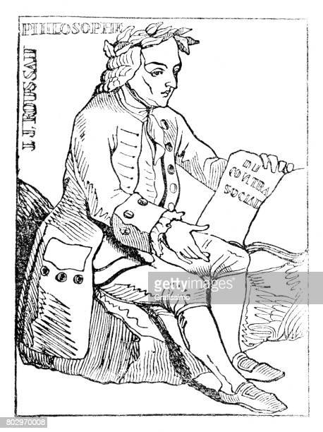 Philosopher Jean-Jacques Rousseau 1835