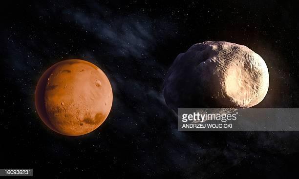 Phobos and Mars, artwork