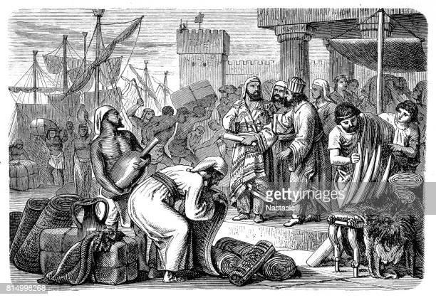 Phoenician merchants of antiquity