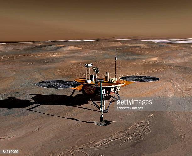 phoenix mars lander - 宇宙ミッション点のイラスト素材/クリップアート素材/マンガ素材/アイコン素材