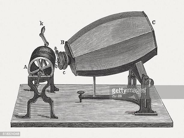 phonautograph (c. 1860) by scott and könig, published in 1880 - legal document stock illustrations, clip art, cartoons, & icons