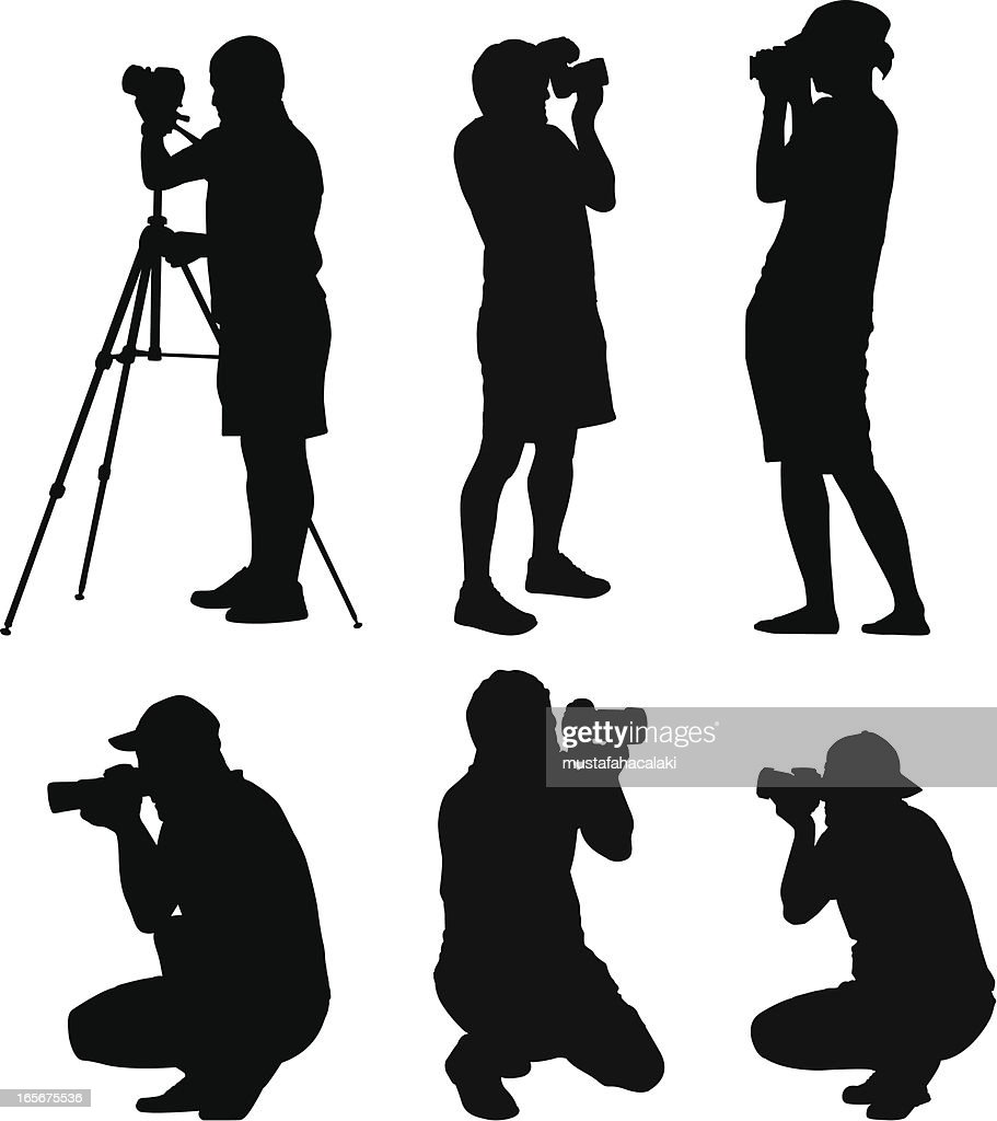 Photographer silhouettes : stock illustration