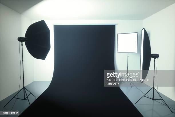illustrations, cliparts, dessins animés et icônes de photography studio, illustration - thème de la photographie