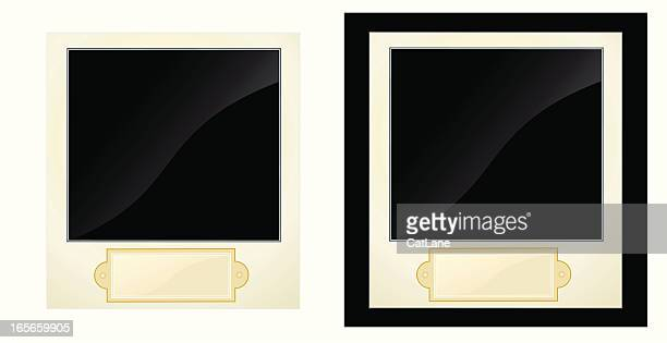 photos with nameplate - memorial plaque stock illustrations, clip art, cartoons, & icons