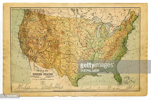 Physical Map United States Of America Stock Illustration Getty - Physical map of the united states