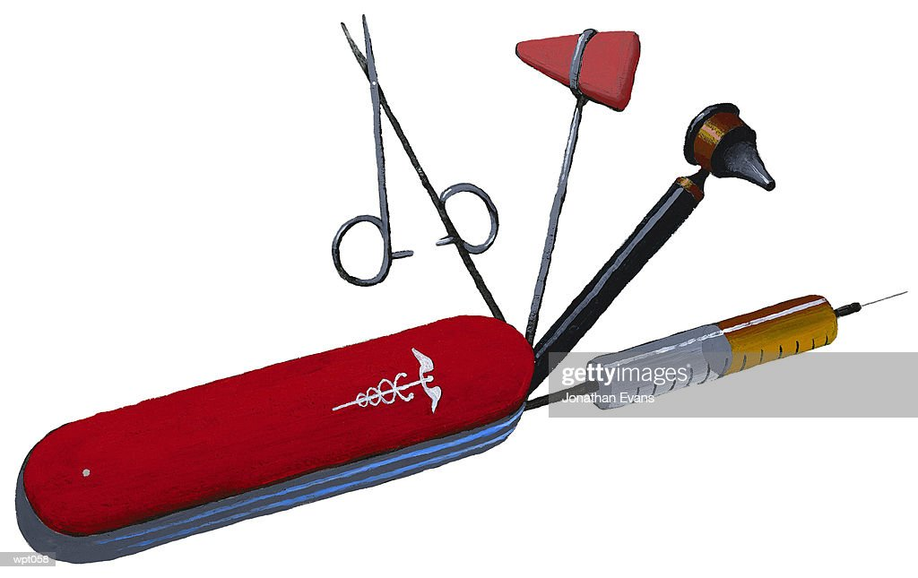Physician?s Utility Knife : Stock Illustration
