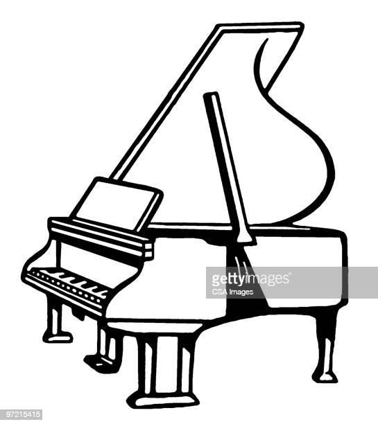 60点のグランドピアノのイラスト素材クリップアート素材マンガ素材