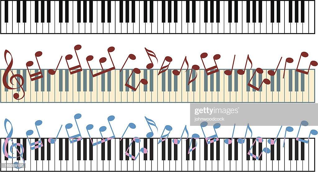 Piano keyboard : stock illustration