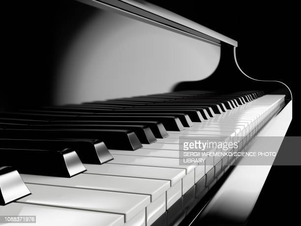 piano keys, illustration - classical stock illustrations