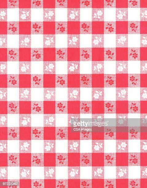 picnic pattern - tablecloth stock illustrations, clip art, cartoons, & icons
