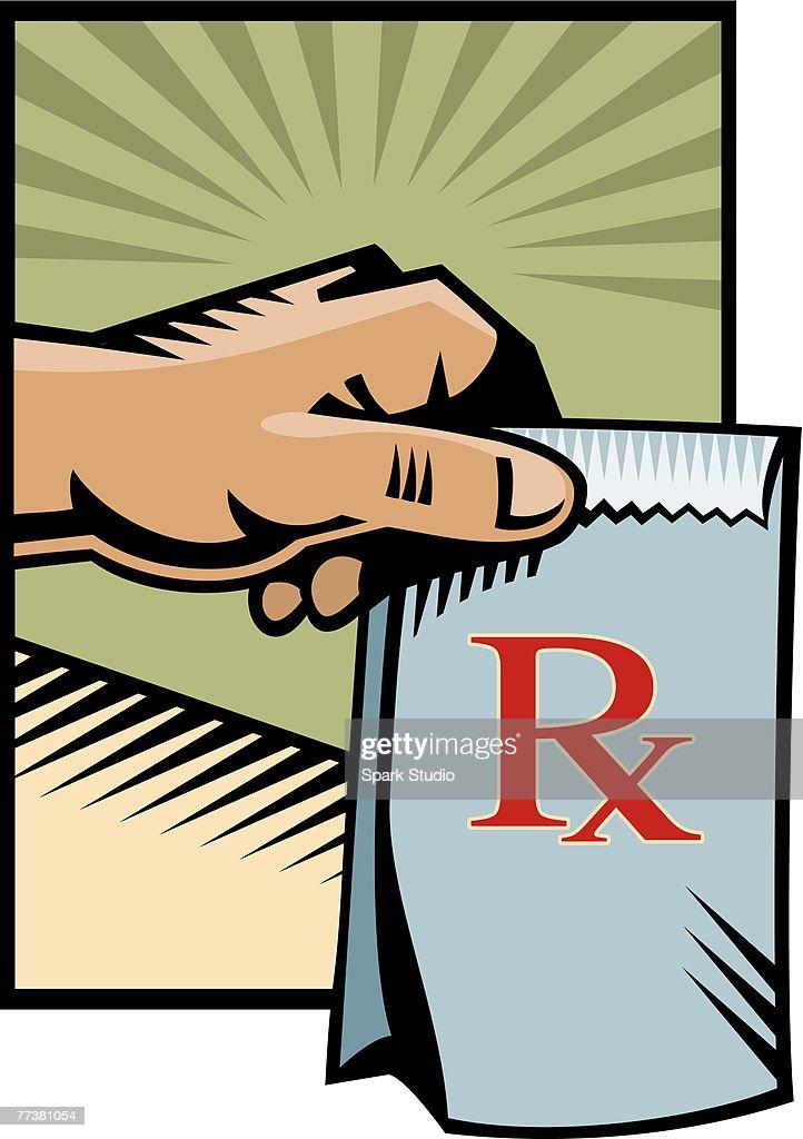 A picture of a bag of prescriptions : Illustration