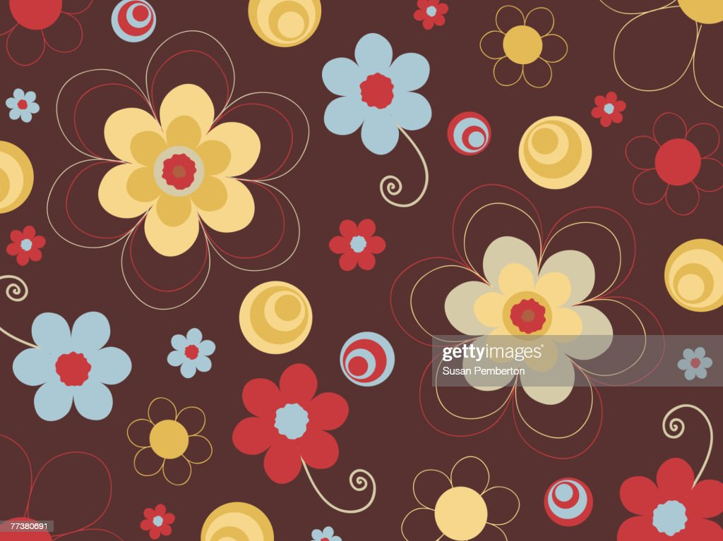 A picture of flowers on chocolate background : Illustration